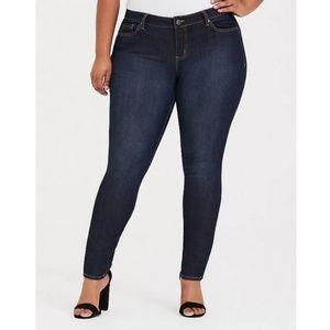 Torrid Curvy High Rise Skinny Jeans Dark Wash